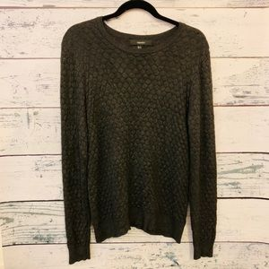 FOREVER 21 CHARCOAL HONEYCOMB SWEATER LIKE NEW MED